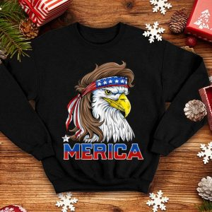 Merica Eagle Mullet 4th of July American Flag shirt