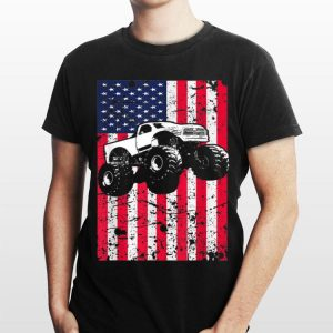 Monster Truck American Flag Racing shirt