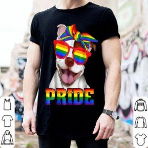 Pit Bull Pride Gay Rainbow Sunglass LGBT shirt