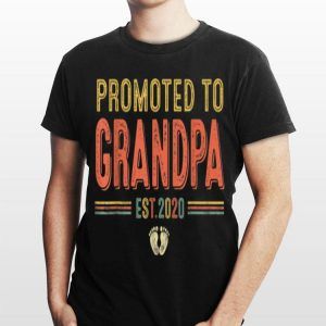 Promoted To Grandpa EST 2020 Firts New Father's Day shirt