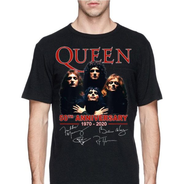 Queen 50th Anniversary 1970 2020 shirt