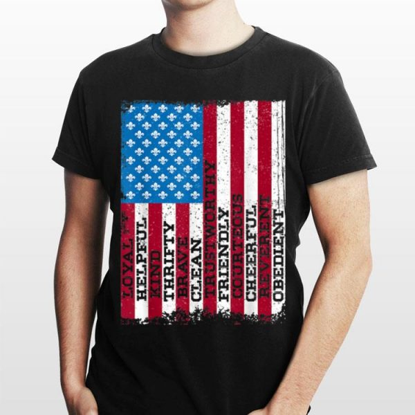 Scout Law Patriotic Scouting American Flag 4th Of july shirt
