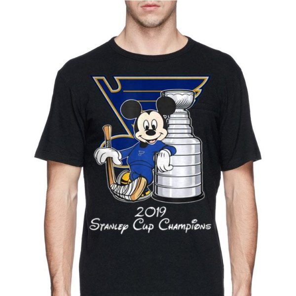 Stanley St-Louis Cup Blues Champions Disney shirt