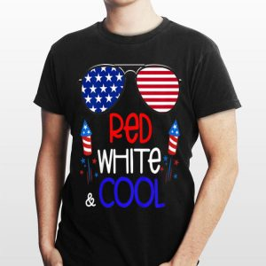 Sunglass American Red White Cool Fireworks 4th Of July Independence Day shirt