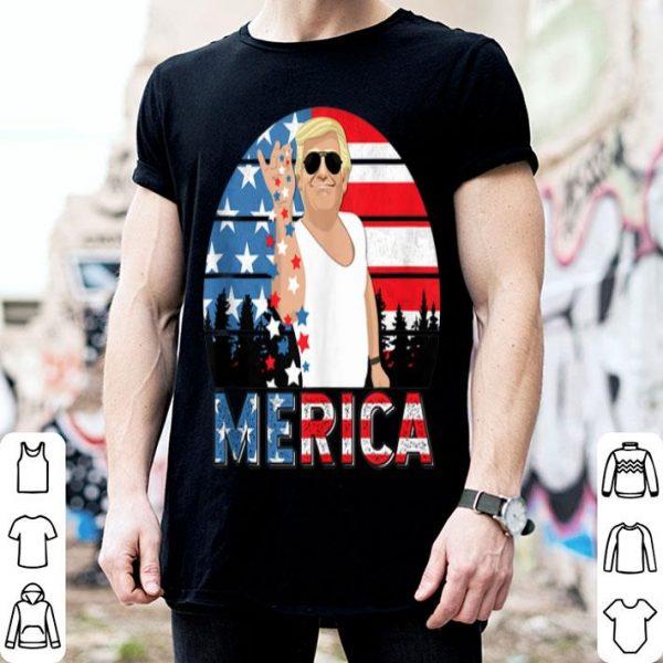 Trump Bae Salt Merica Vintage American Flag shirt
