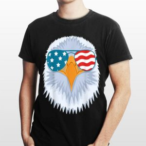 USA Flag Bald Eagle Sunglasses 4th of July Independence Day shirt