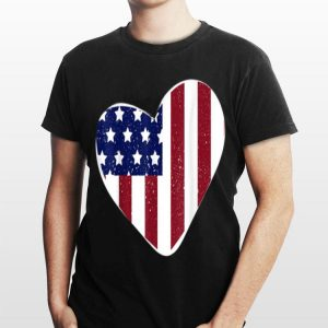 USA Flag Heart 4th of July Independence Day shirt