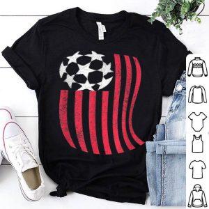 USA National flag with Soccer ball France 2019 shirt