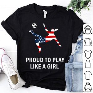 Usa Soccer Women Team Player American Flag shirt
