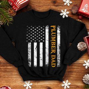 Vintage USA Plumber Dad American Flag Father's Day shirt