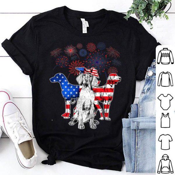 Vizsla 4th Of July America Flag Men Women shirt