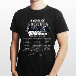 18 Years Of Fast And Furious Signature Character shirt