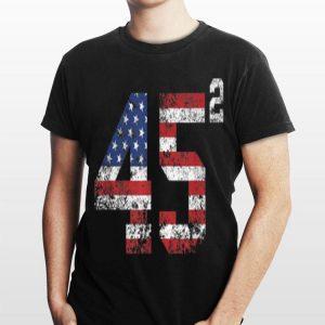 45 Squared American Donald Trump 2020 shirt