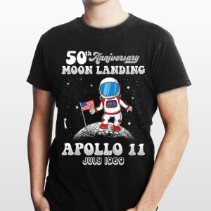 50th Anniversary Moon Landing Apollo 11 Astronaut Put American Flag July 1969 shirt