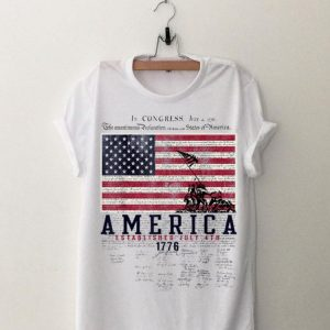 America Established July 4th 1776 Signature shirt