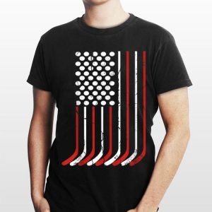 American Flag Hockey Bat 4th Of July Independence Day shirt