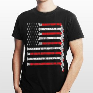 American Flag Hockey Bat For NHL Fan shirt
