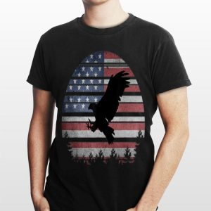 American Vintage 4th of July Eagle Patriotic Independence Day shirt