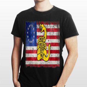 Betsy Ross Flag Don't Tread On Me Snake shirt