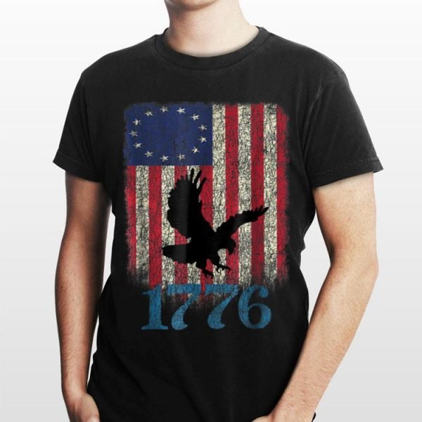 Betsy Ross Flag Eagle Usa 1776 4th Of July Happy Independence Day shirt