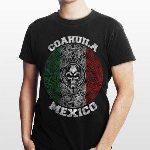 Coahuila Aztec Calendar Mayan Skull Mexican shirt
