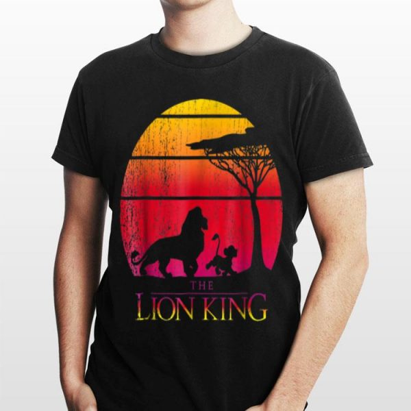 Disney Lion King Vintage Sunset Mufasa And Simba shirt