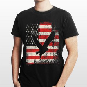 Eagle Flying American Flag 4th Of July Independence Day shirt