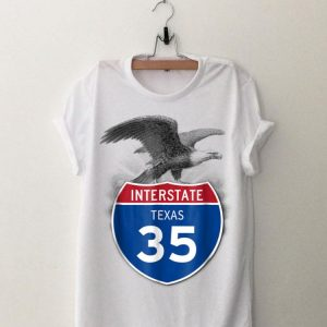 Eagle Texas 35 Highway Interstate Shield shirt