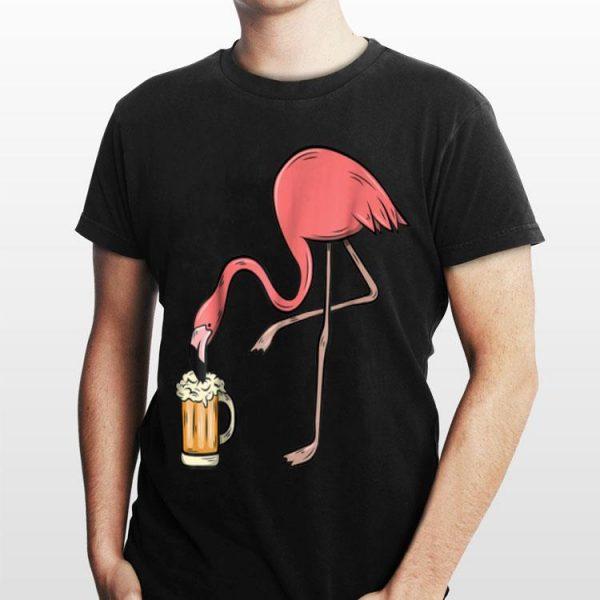 Flamingo Drinking Beer shirt