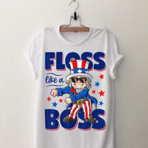Floss Like a Boss 4th of July Independence Day Uncle Sam shirt