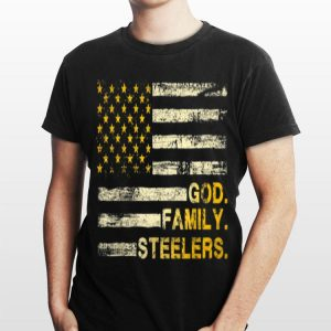 God Family Steelers Pro American Flag shirt