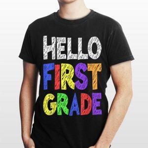 Hello 1st Grade Back To School shirt