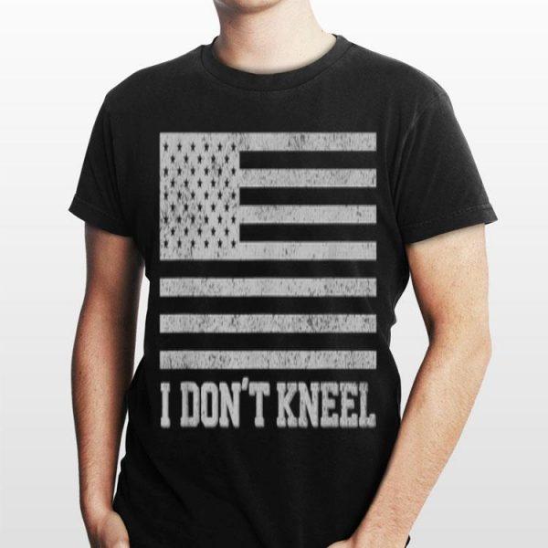 I Don't Kneel American Flag shirt