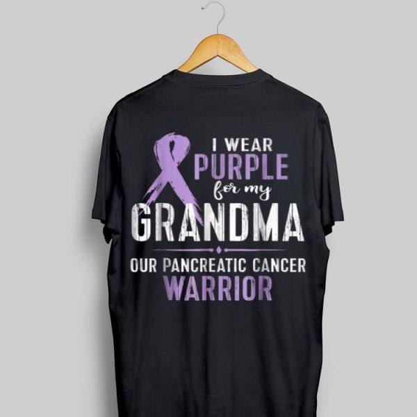 I Wear Purple For My Grandma Our Pancreatic Cancer Warrior shirt
