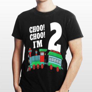 I'm Two Train 2nd Birthday shirt