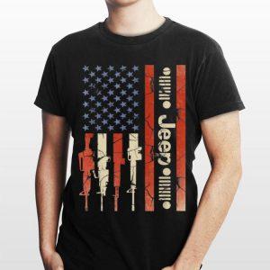 Jeep American Flag Gun shirt