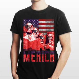 Merica 4th of July Mount Rushmore US Flag shirt