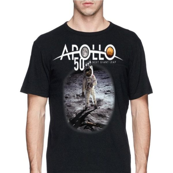 Nest Giant Leap Apollo 11 50th Anniversary First Walk On The Moon Astronaut shirt