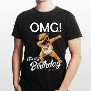 OMG It's My Birthday Pug Dab Dance shirt