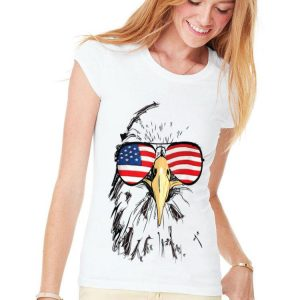 Patriotic Bald Eagle American Sunglass 4th Of July Independence Day shirt