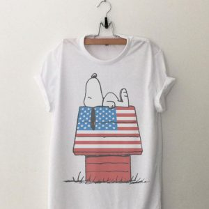 Peanuts Snoopy Laying American House shirt