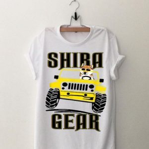 Shiba Inu Gear Driving Dog Jeep shirt