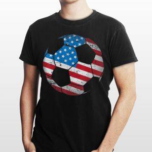 Soccer Ball American Flag shirt