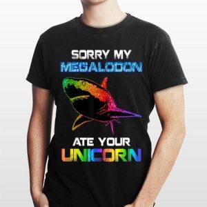 Sorry My Megalodon Shark Ate Your Unicorn Rainbow LGBT shirt
