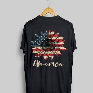 Sunflower American Flag 4th Of July Independence Day shirt