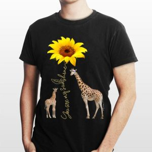 Sunflower You are my sunshine Giraffe shirt