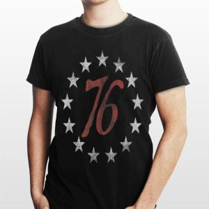 The Spirit 76 Circle Star 4th Of July Independence Day shirt