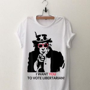 Uncle Sam Vote Libertarian Political Red Sunglass shirt