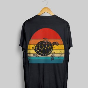 Vintage Sea Turtle Retro Silhouette shirt