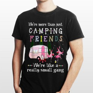 We're More Than Just Camping Friends Flamingo Beer And Wine shirt